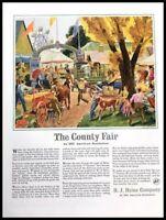 1940 H.J. Heinz County Fair Vintage Advertisement Print Art Ad Poster LG89