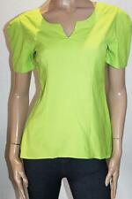 Unbranded Designer Lime Green Short Sleeve Fitted Blouse Top Size M BNWT #SZ35