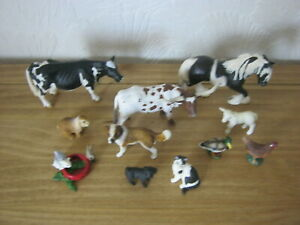 Bundle/Collection Of 11 Schleich Farm / Country Animals & Pets