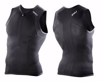 2XU Triathlon Comp Elite Triathlon Race Singlet Black BNWT's - S,M,L,XL
