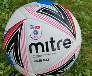 Mitre Delta Max Sky Bet EFL official Size 5 match ball Fifa Pro Quality New