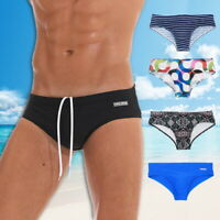 Men's Swimwear Bikini Briefs Pad Quick Dry Swimsuits Floral Surf Shorts Trunks