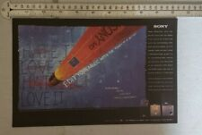 Sony Minidisc Player Rare Print Advertisement