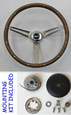 "New! 1967-1974 Ford Bronco GRANT Wood Walnut Steering Wheel 15"" In Stock"