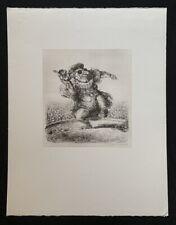 A. Paul Weber, Ein Student wird gefeuert, Lithographie, 1978, handsigniert