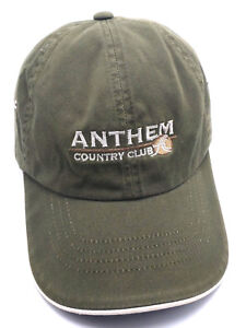 ANTHEM COUNTRY CLUB (NV) green adjustable cap / hat - 100% cotton
