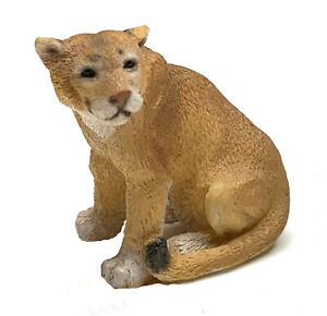 """Puma Figurine Living Stone 2"""" Resin Statue New Collectible"""