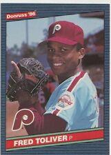Freddie Toliver Phillies Pitcher 1986 Donruss Card # 612 7 yrs in MLB