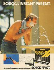 Publicité 1984  Rasoir SCHICK PIVOT avec tete pivotante