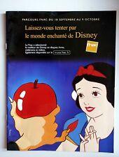 catalogue Fnac monde enchanté de Disney story  Mickey célèbre inconnu 1999 pub