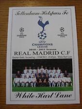 Teams S-Z Tottenham Hotspur European Cup Football Programmes