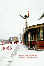 """Canadian Pacific Railway   Greenville Jct Me  1965  4x6"""" photo a"""