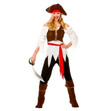 Adult Ladies PIRATE SHIPMATE Fancy Dress Caribbean Party Costume UK Sizes 8-24