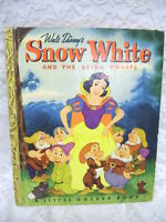 """LITTLE GOLDEN BOOK SNOW WHITE AND THE SEVEN DWARFS 1948 """"A"""" EDITION"""