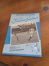 GILLINGHAM V BOLTON WANDERERS 31 AUG 85 DIV 3
