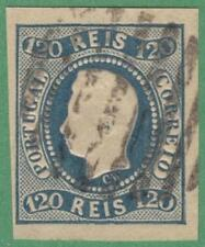 Portugal #24 used 1866 120R imperf cv $70