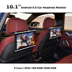 """2pcs 10.1""""HD 8-Core Android 9 Car Headrest Monitor Screen Video MP5 Player WiFi"""