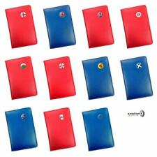 ENGLAND, WALES, SCOTLAND, UK CRESTED RED / BLUE LEATHER GOLF SCORECARD HOLDER