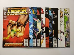 Lot of 11 of Legion of Super-Heroes #1-10 +Annual DC Comics 2010 Series 6 DEAL!!
