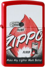 Zippo Briquet Flint N Fuel red tapis zippo flamme neuf emballage d'origine pièce de collection!!!