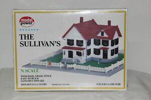 "MODEL POWER ""N"" SCALE ""THE SULLIVAN'S"" HOUSE"
