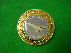 Lovely Gift Item - Concorde 1969-2003 Gold Plated Coin Europe /Europa FREEPOST