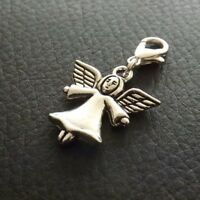 10 Silver Tone Angel Clip on Charms for Bracelets / Jewellery Making Wholesale