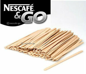 """NESCAFE AND & GO - 1000 WOODEN STIRRERS 5.5"""" - FOR 12OZ INCUP DRINKS MACHINES"""