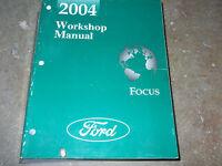 2004 Ford Focus Service Repair Shop Workshop Manual FACTORY OEM