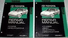 1992 Toyota MR2 MR 2 Service Repair Shop Workshop Manual Set 92 DEALERSHIP