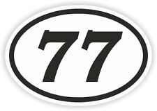 77 SEVENTY-SEVEN NUMBER OVAL STICKER bumper decal motocross motorcycle Aufkleber