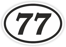 77 Settantasette numero Ovale Adesivo Paraurti Decalcomania Motocross Moto aufkleber