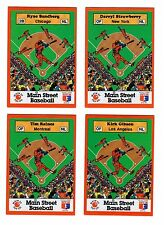 VERY RARE MAIN STREET BASEBALL CARD LOT!  4 DIFFERENT! WITH STICKERS! NICE!
