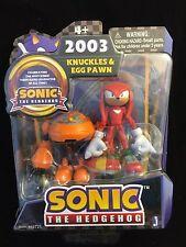 Sonic the Hedgehog KNUCKLES & EGG PAWN Figure SET 20th Anniversary 2003 NIB