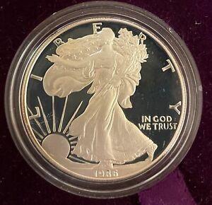 1986-S American Eagle 1oz Silver Proof Bullion Coin w/ Case