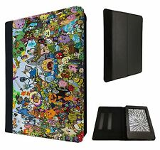Cool Funky adventure time Cartoon Fun Case Flip cover For Kindle Paperwhite 6''