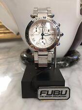 FUBU by Witttnauer Men's All Stainless Steel - White/Blue Watch *LIQUIDATION*