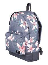 ROXY WOMENS BACKPACK BAG.SUGAR BABY FLOWER GREY RUCKSACK.SCHOOL 16L 8W 28 KPG6