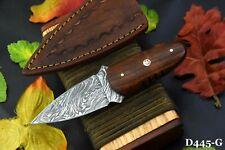 Custom Damascus Steel Skinning Hunting Knife Handmade, Walnut Handle (D445G