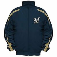 Milwaukee Brewers MLB Men's Big & Tall Full-Zip Microfiber Jacket