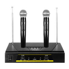 Professional 2 channel VHF Wireless Dual rophone System Cordless Handheld