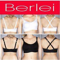 BERLEI ULTIMATE PERFORMANCE SUPPORT SPORTS CROP TOP BRA BLACK  WHITE WOMEN Y599W
