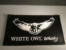 "White Owl Whisky Bar Mat Professional 11"" x 19 3/4"" Rare!"