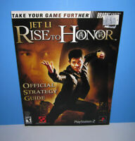 Jet Li Rise to Honor Strategy Hint Guide Brady Games Playstation 2