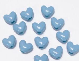 37 green 12x 12 mm Lot gets 3 blue heart pendants