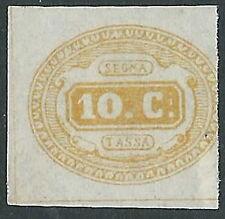 1863 REGNO SEGNATASSE 10 CENT SENZA GOMMA - Y123