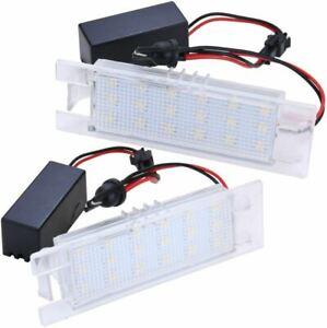 Set Warm White LED License Plate Lighting for Fiat Marea Punto Tipo Brava Croma