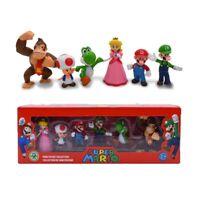 Super Mario Bros 6 Pcs/Set mini action figure toy models Luigi Yoshi Donkey Kong