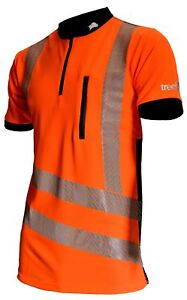 Treehog Hi-Viz T-shirt PPE Safety Polo Shirt Arbortec Tree Surgeon Orange XL