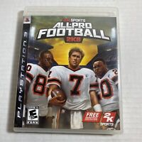 All-Pro Football 2K8 Sony Playstation 3 PS3 USA Complete Video Game Free Ship